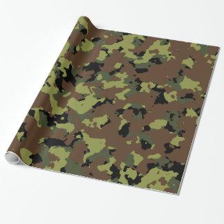 Militares Camo del verde de musgo Papel De Regalo