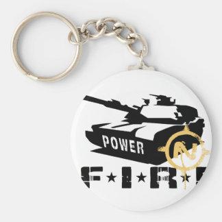 Militares Canon del poder de fuego Llaveros