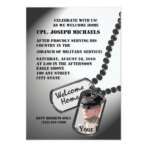 Militares caseros agradables invitaciones personales