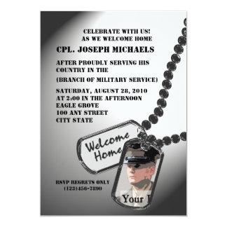 """Militares caseros agradables invitación 5"""" x 7"""""""