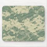 militares, cojín de ratón del camuflaje del mono d tapete de ratones