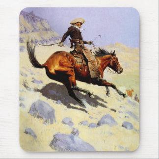Militares de la caballería del vintage, el vaquero alfombrilla de raton