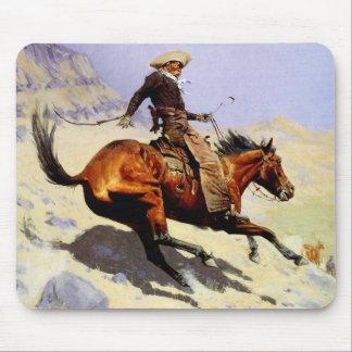 Militares de la caballería del vintage, el vaquero alfombrillas de raton