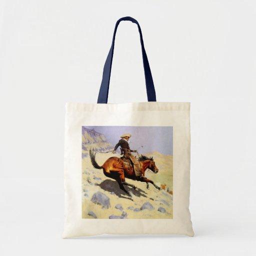 Militares de la caballería del vintage, el vaquero bolsa tela barata