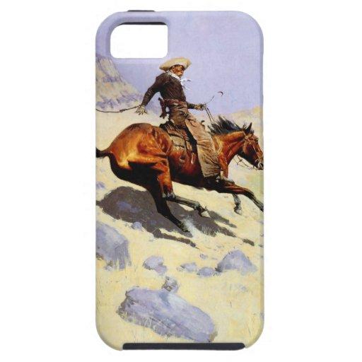 Militares de la caballería del vintage, el vaquero funda para iPhone 5 tough