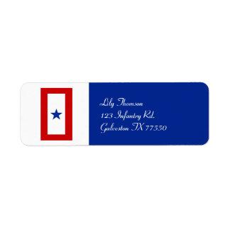 Militares de la mamá de la estrella azul etiquetas de remite