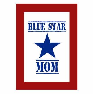 Militares de la mamá de la estrella azul fotoescultura vertical