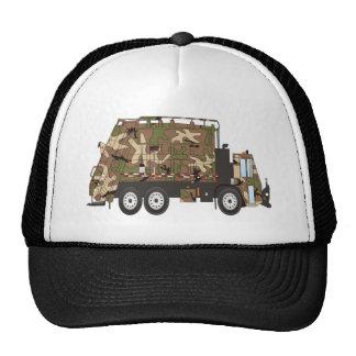 Militares del camión de basura de Camo Gorra