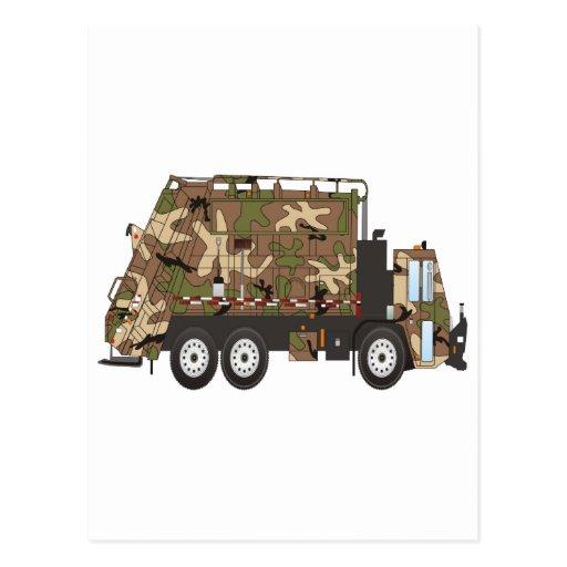 Militares del camión de basura de Camo Tarjeta Postal