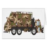 Militares del camión de basura de Camo Tarjetas