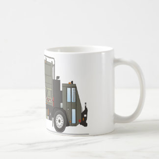 Militares del camión de basura tazas de café