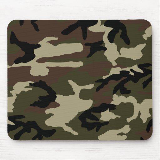 militares del ejército del modelo del camuflaje de alfombrilla de ratones