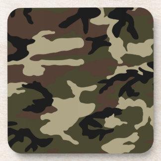 militares del ejército del modelo del camuflaje de posavasos de bebidas