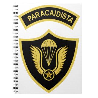 Militares del PARACAÍDAS PARACAIDISTA del ejército Libros De Apuntes Con Espiral