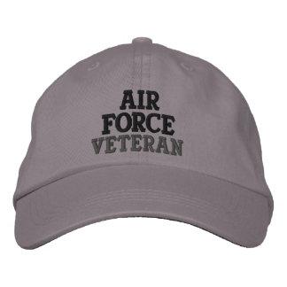Militares del veterano de la fuerza aérea gorra bordada