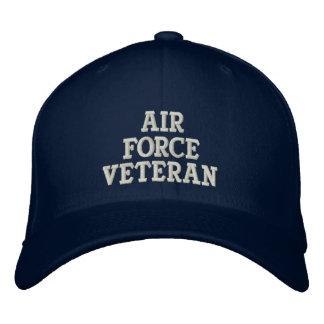 Militares del veterano de la fuerza aérea gorros bordados