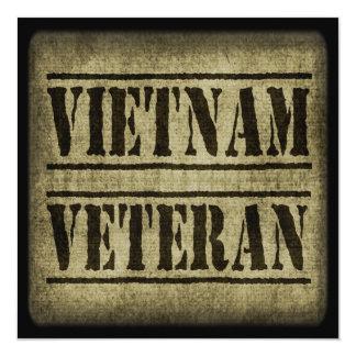 Militares del veterano de Vietnam Invitación 13,3 Cm X 13,3cm