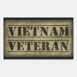 Militares del veterano de Vietnam Rectangular Pegatina