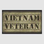 Militares del veterano de Vietnam Rectangular Pegatinas