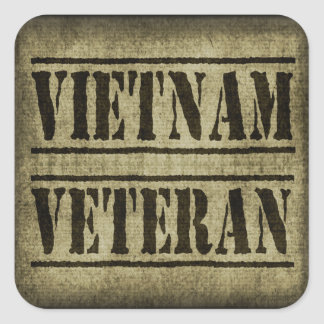 Militares del veterano de Vietnam Pegatina Cuadrada
