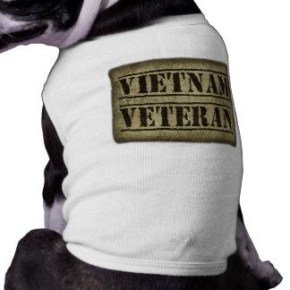 Militares del veterano de Vietnam Playera Sin Mangas Para Perro