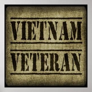 Militares del veterano de Vietnam Póster