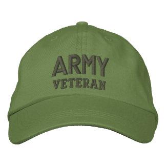 Militares del veterano del ejército gorras bordadas