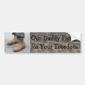 Militares nuestro papá etiqueta de parachoque