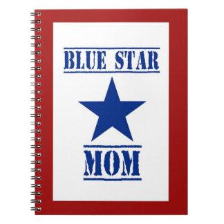 Militares patrióticos de la mamá de la estrella cuaderno