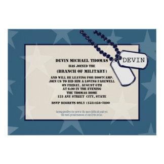 Militares que van lejos estrellas azules del fiest anuncios personalizados