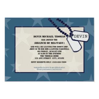 """Militares que van lejos estrellas azules del invitación 5"""" x 7"""""""