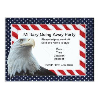 Militares que van lejos invitaciones del fiesta invitación 12,7 x 17,8 cm