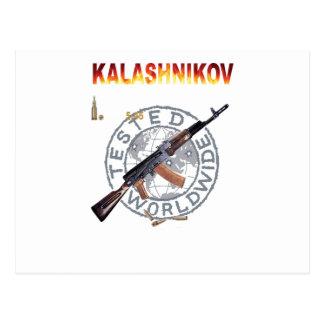 MILITARES RUSOS RAROS DEL ARMA DEL KALASHNIKOV DEL TARJETAS POSTALES
