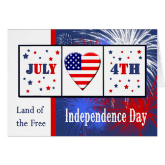 Military 4th of July Card