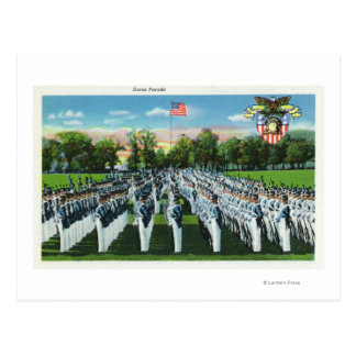Military Academy Dress Parade Postcard