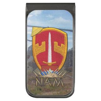 Military advisors MAAG Vietnam Nam war vets patch Gunmetal Finish Money Clip