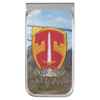 Military advisors MAAG Vietnam Nam war vets patch Silver Finish Money Clip