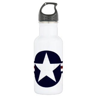 Military air corps roundel stainless steel water bottle