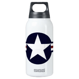 Military air corps roundel thermos water bottle