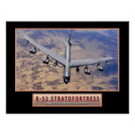 """Military Aircraft Poster """"B-52 Stratofortress"""" 24x"""