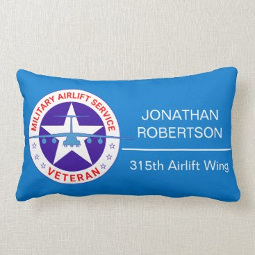 Military Airlift Service Veteran customizable Lumbar Pillow