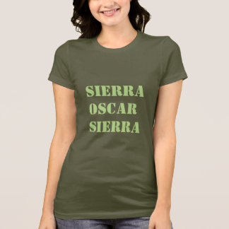 Military Alphabet SOS T-Shirt Sierra Oscar Sierra