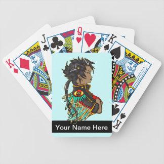 Military Anime Girl Playing Cards