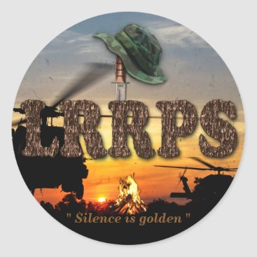 Military Army Marines Recon LURPS Vietnam Nam War Classic Round Sticker