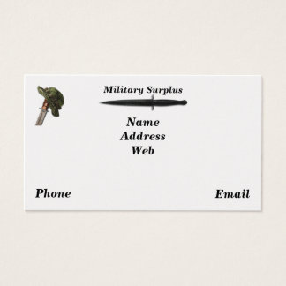 Military army navy air force marines surplus business card
