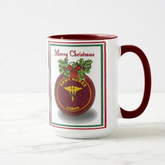 Military Army Nurse Corps Christmas Coffee Cup