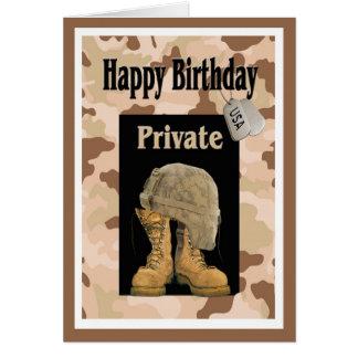 Military Army Private Birthday Card