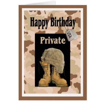 Military soldier birthday card zazzle bookmarktalkfo Choice Image