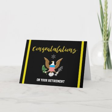 Military Army Retirement Colors Defense emblem Card