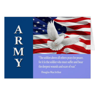 Military Army Troop Support Card